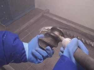 utilisation cabine de sablage