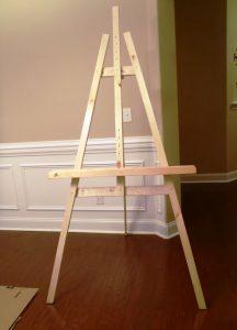 construire un chevalet de peinture diy